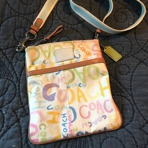 Coach Scribble Crossbody Bag - pastel colors